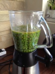 Peas in a blender