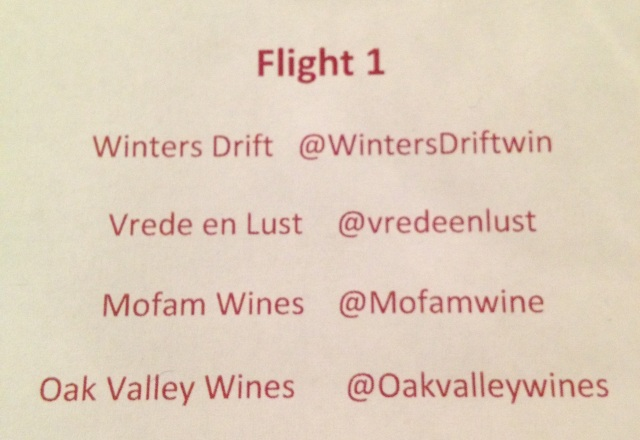 Elgin Wines: Flight 1