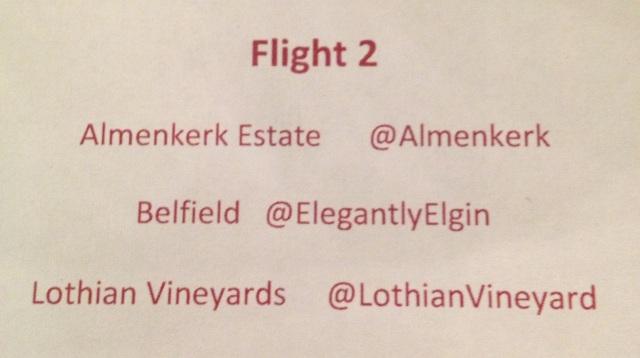 Second flight of Elgin Wines