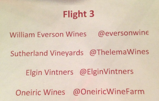Third flight of Elgin Wines