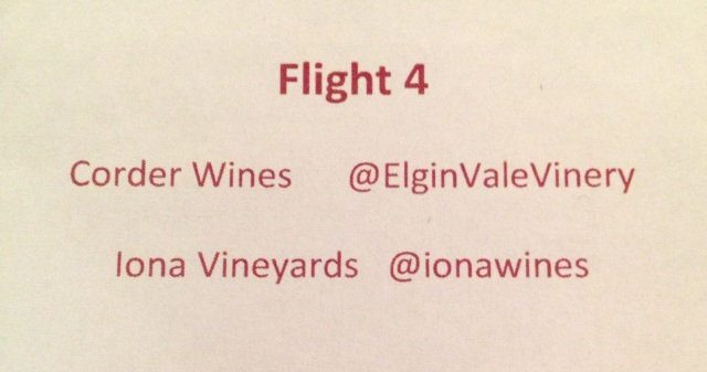 Fourth & final flight of Elgin Wines