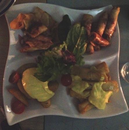 Peruvian starter platter