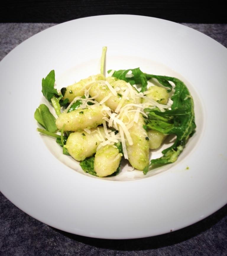 Homemade Gnocchi with Basil Pesto