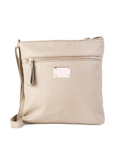 Grey Embellished Mottled Sling Bag