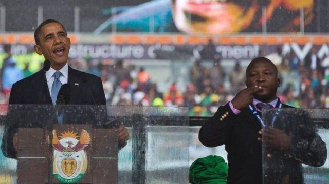 Dyantyi next to President Obama