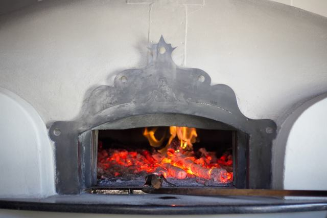 Magnificent wood-fired oven