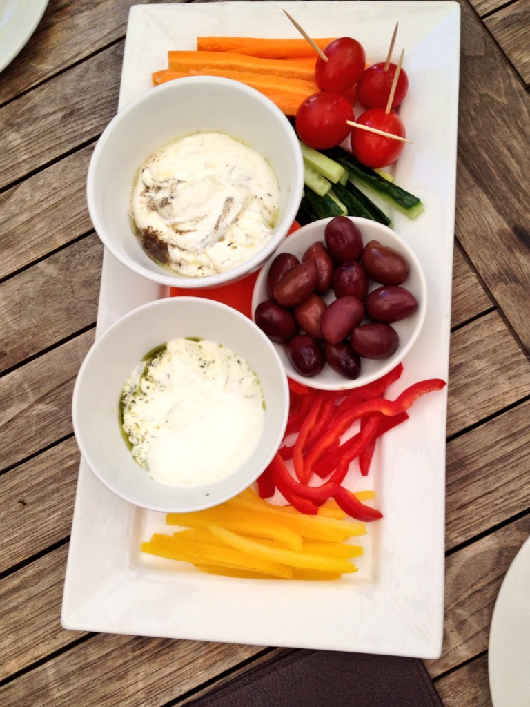 Snack platter with Fairview Labneh