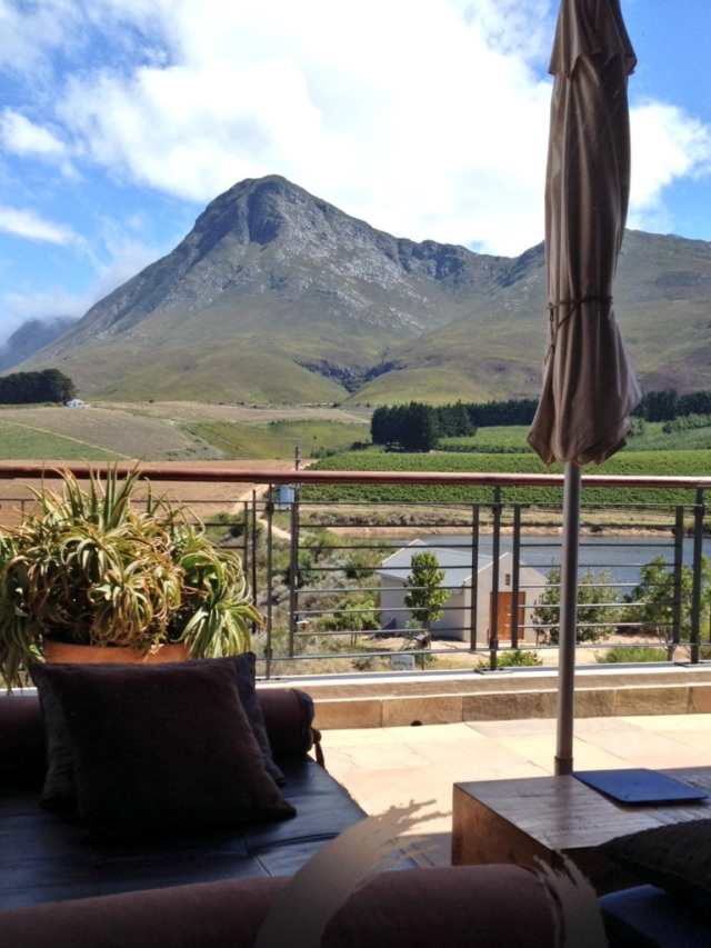 Creation Wines' Tasting room , overlooking the mountains