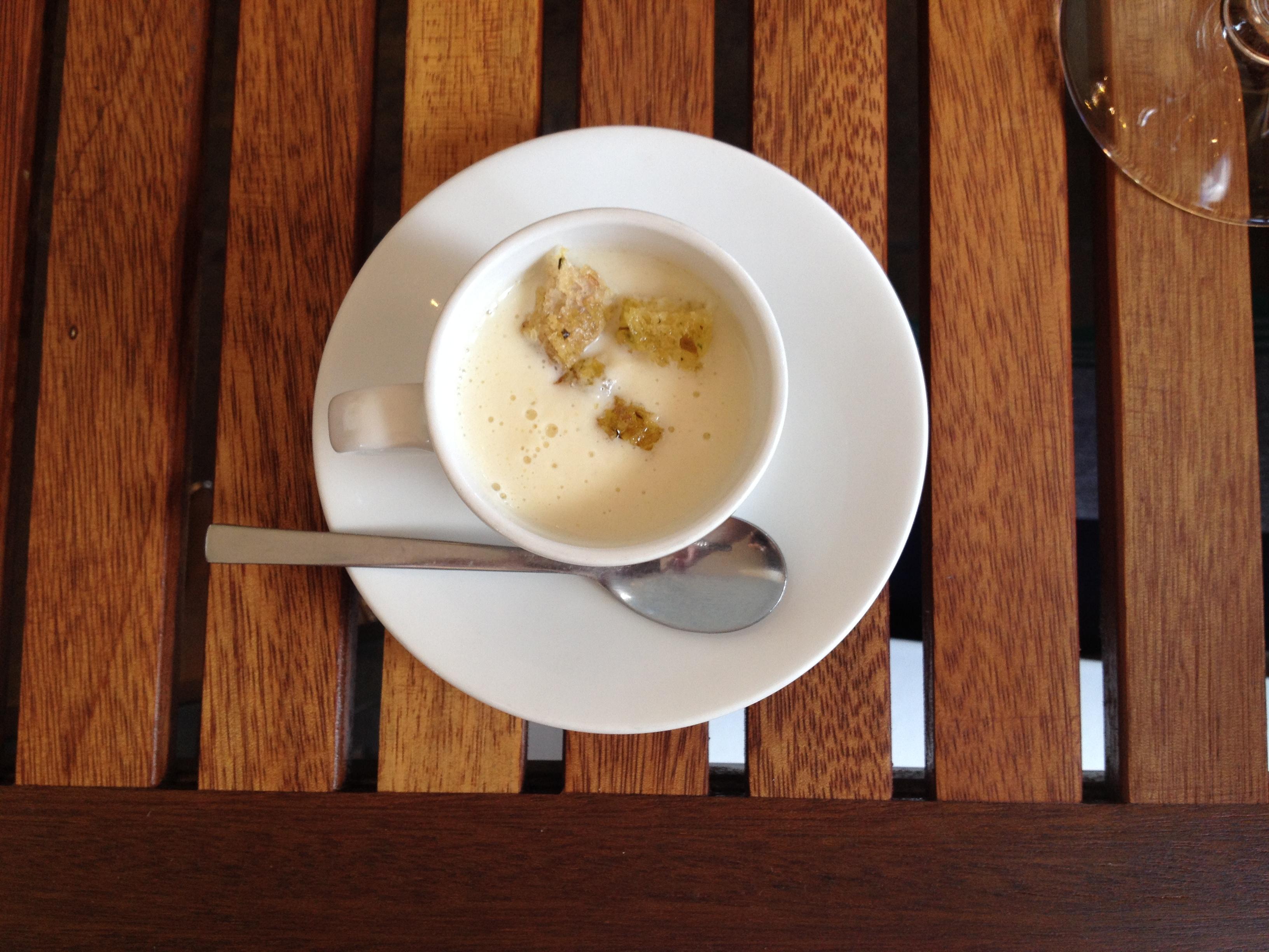 Cauliflower Soup With Gorgonzola Recipe — Dishmaps