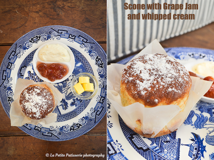 The Wall Cottage|How delicious does the scone with grape jam look?