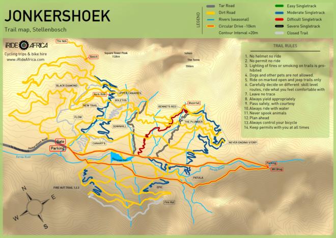 Jonkershoek MTB Trails | The One K