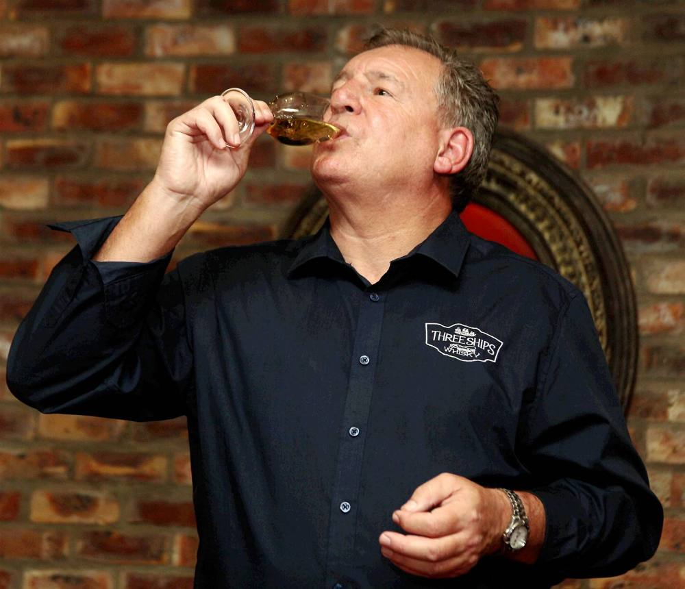 Andy Watts (whiskey maker) talking at The Craft Restaurant. Picture: Brian Witbooi, 04 April 2016, Weekend Post